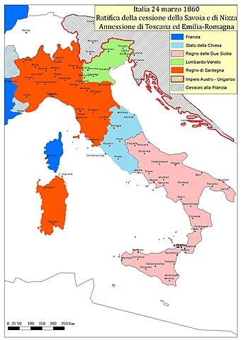Toscana, Emilia e Romagna si annettono al Piemonte