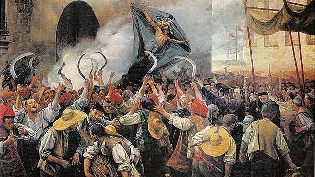Levantamientos en Cataluña, (Corpus de Sangre), comienza la guerra de Cataluña Rebelión en Portugal