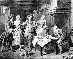 Arrivée de la première famille française