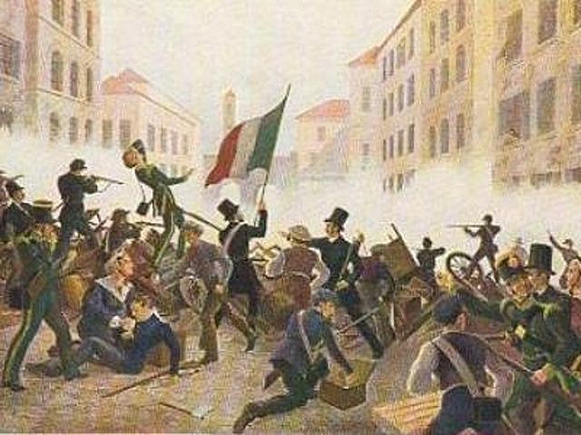 insurrezioni a Milano e Venezia