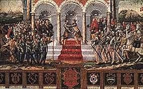 Guerra hispano-francesa, con victorias de España. Paz de Cateau-Cambrésis.
