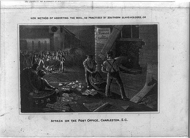 Abolitionist Literature Burned