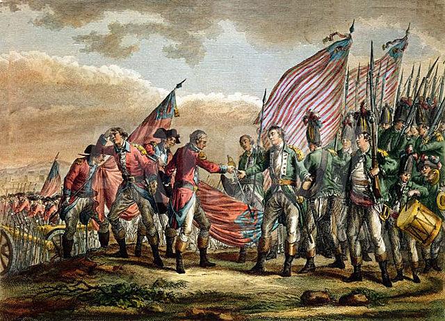Battle of Saratoga; General Burgoyne surrenders.