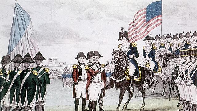 General Cornwallis surrenders at Yorktown, Virginia.