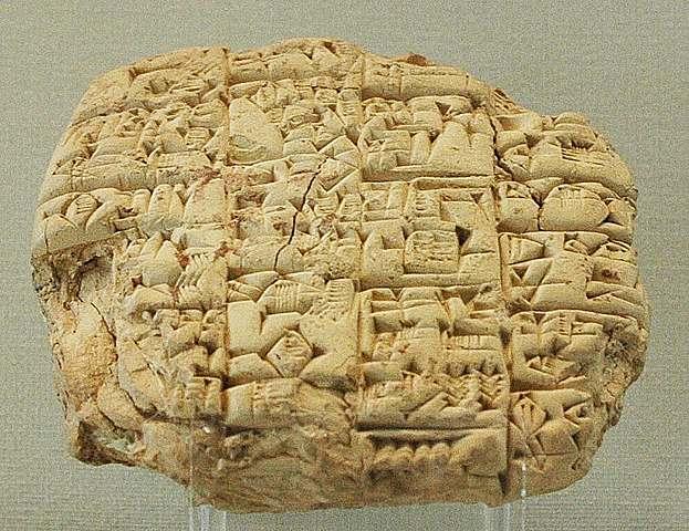 Sumerian written language – 3300 – 3000 BCE