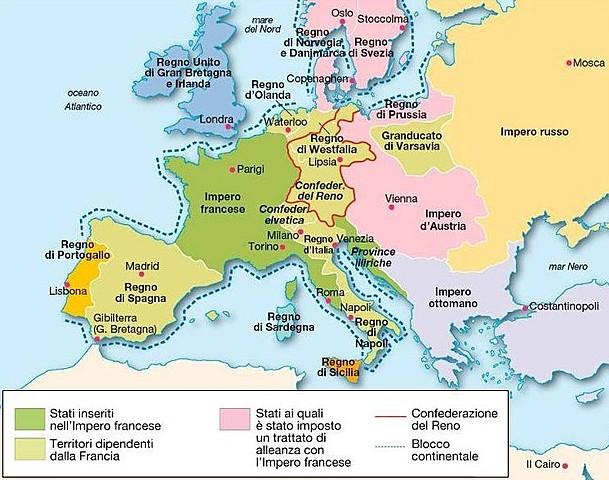 Napoleone istituisce il blocco continentale dei commerci con la Gran Bretagna