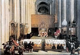 Celebración del Concilio de Trento,