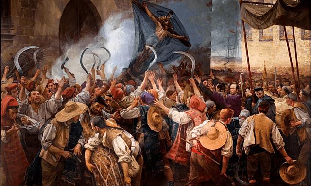 Levantamientos en Cataluña, (Corpus de Sangre), comienza la guerra de Cataluña