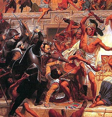 Hernan Cortez defeated the Aztecs