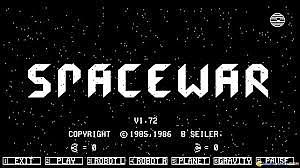 Spacewar PRIMER JUEGO de computadora