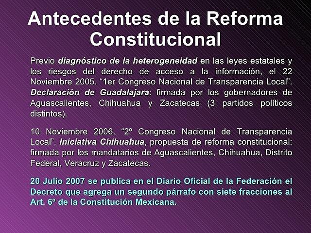 """Reforma Constitucional """"Declaración de Guadalajara"""""""