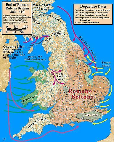 Roman legions leave Britain