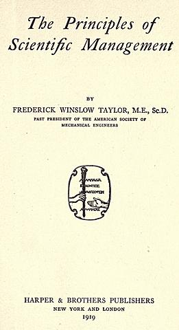 1911 Administración científica del trabajo
