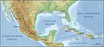 Alvar Nunez Cabeza de Vaca: part of a Spanish expedition