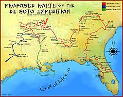 Hernando de soto: led an expedition to explore Florida