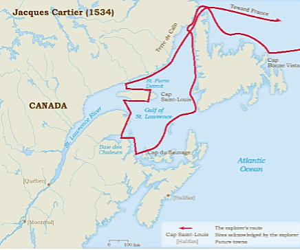 Jacques Cartier was sent to the new world