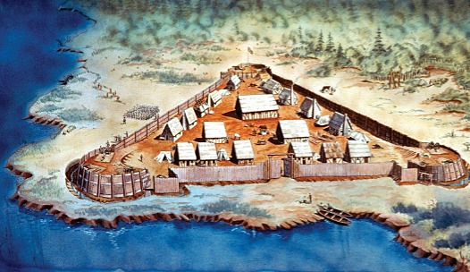 Jamestown gets founded in Virginia