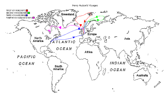 Henry Hudson gets hired to find a route to India through the Americas