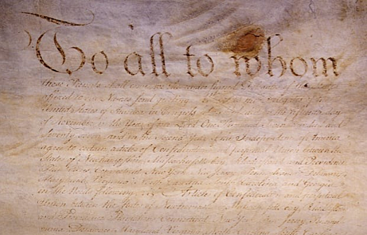 The Articles of Confederation were written
