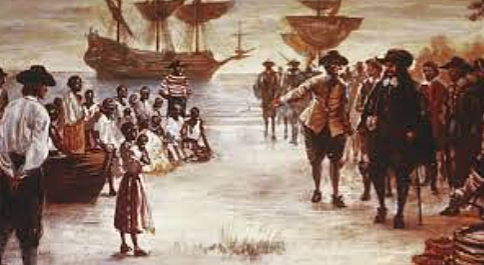 The first enslaved Africans arrive in Jamestown
