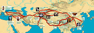 Silk routes emerged connecting trade between the Mediterranean Basin and Asia