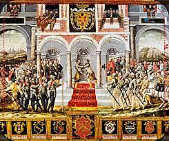 Guerra hispano-francesa, con victorias de España. Paz de Cateau-Cambrésis,