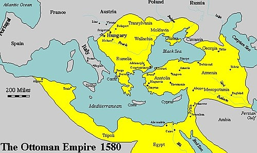 The Ottoman Empire spread to Africa, the Middle East and Southern Europe.