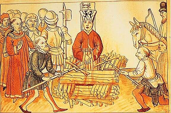 Jan Huss was burned at the stake for being a heretic.