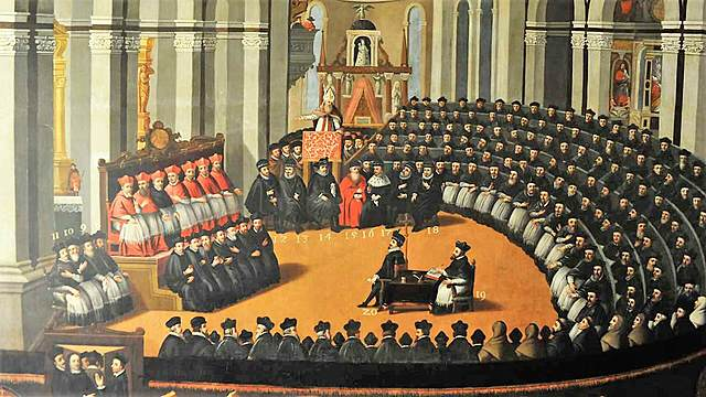Celebración del Concilio de Trento