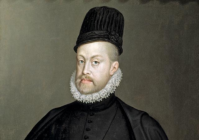 Felipe II coronado rey de España y sus posesiones Europeas y de Ultramar,  La Armada Invencible