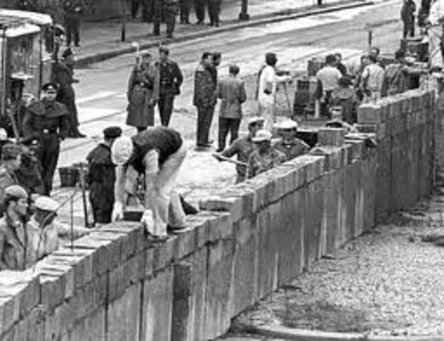 Beginn des Mauerbaus