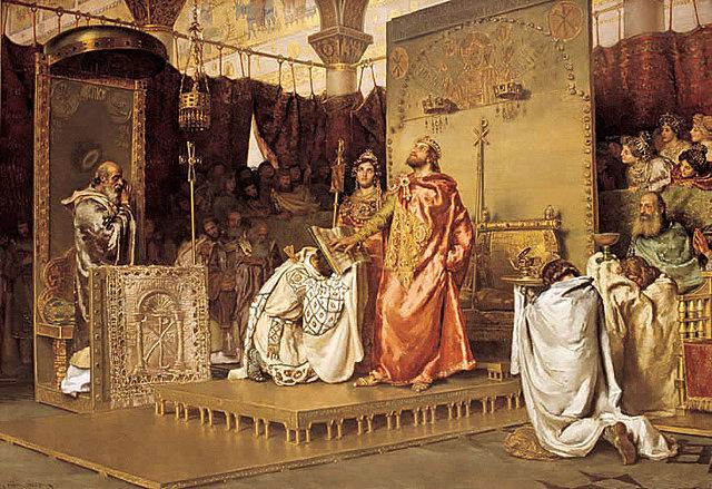 King Reccard renounces Arianism
