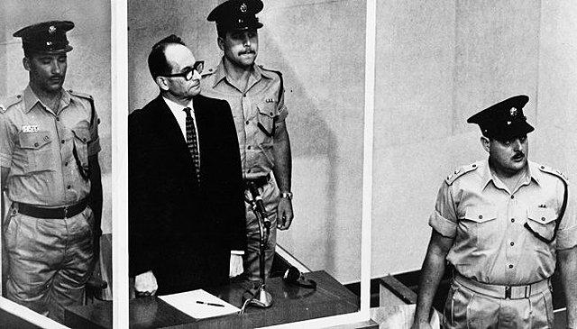 Adolf Eichmann, un nazi enjuiciado.