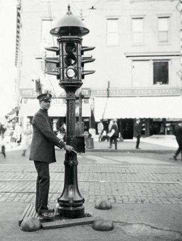 First traffic lights