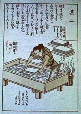 Se inventa el papel en China, por Cai Lun