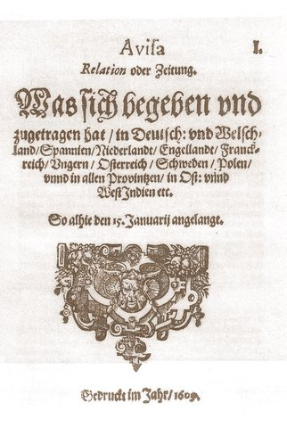 Primer periodico por Johann Carolus