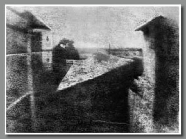 Primera fotografía exitosa tomada por Niépe en Francia