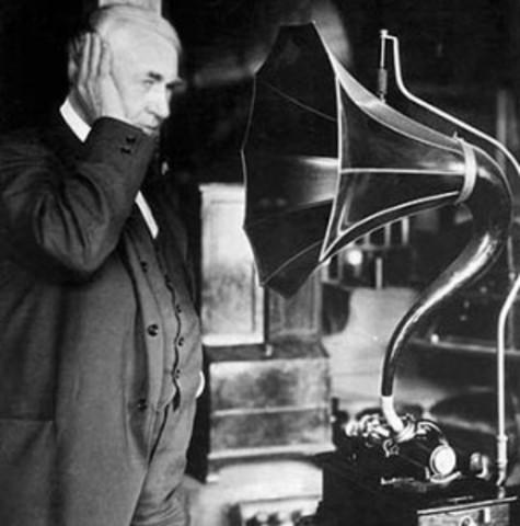 Invención del fonógrafo por Thomas Alva Edison