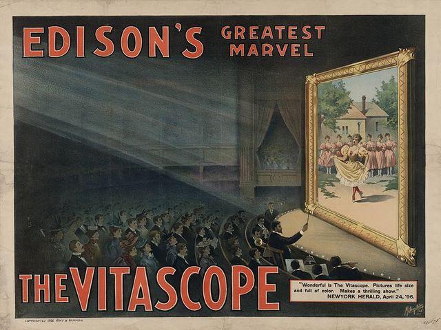 El vitascopio por Thomas alva Edison