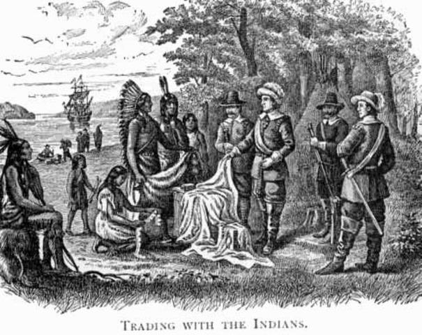 Cherokee trade with English