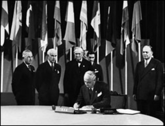 The Charter for UN was created .