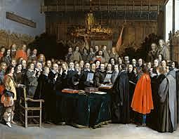 Se firma el Tratado de Westfalia, independencia de las Provincias Unidas de los Países Bajos. España conserva Flandes