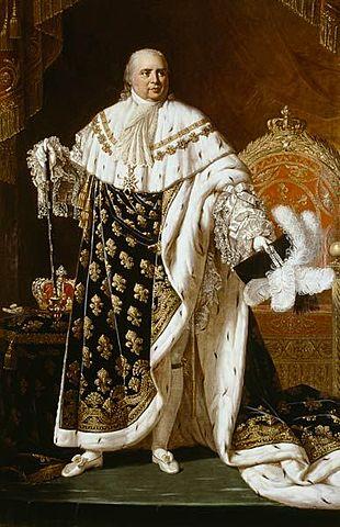 Restauración del trono francés a Luis XVIII