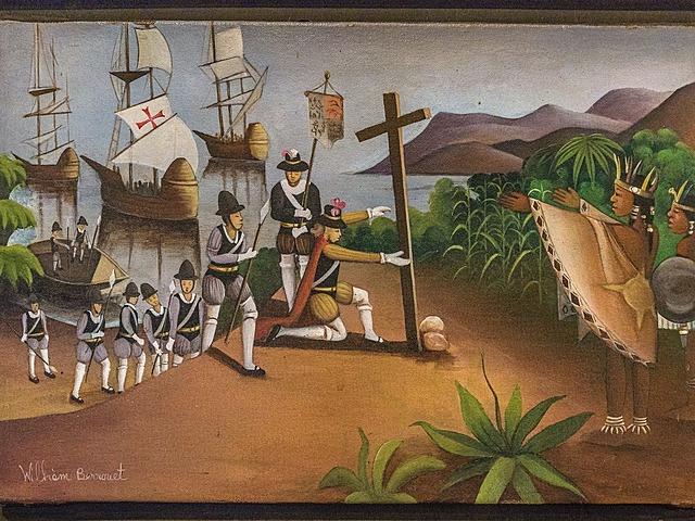 Descubrimiento de América con Cristóbal Colón. Llegada de los españoles al contiente americano.