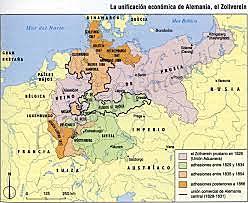 Estados alemanes, Zollverein