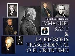 IDEALISMO TRASCENDENTAL- CRISTICISMO