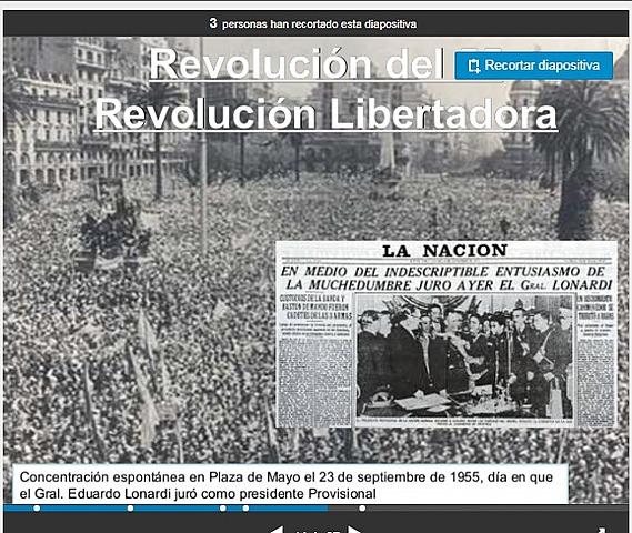 REVOLUCIÓN LIBERTADORA (El Gral Eduardo Lenardi jura como presidente provicional)
