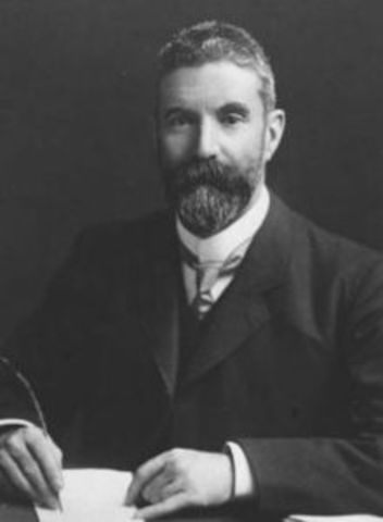 Alfred Deakin succeeds Barton to become the second PM of Australia
