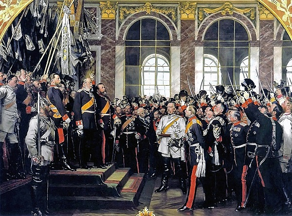 Estados alemanes, Proclamación del II Reich y de Guillermo I como emperador