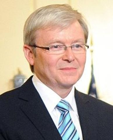 Kevin Rudd becomes the 26th PM